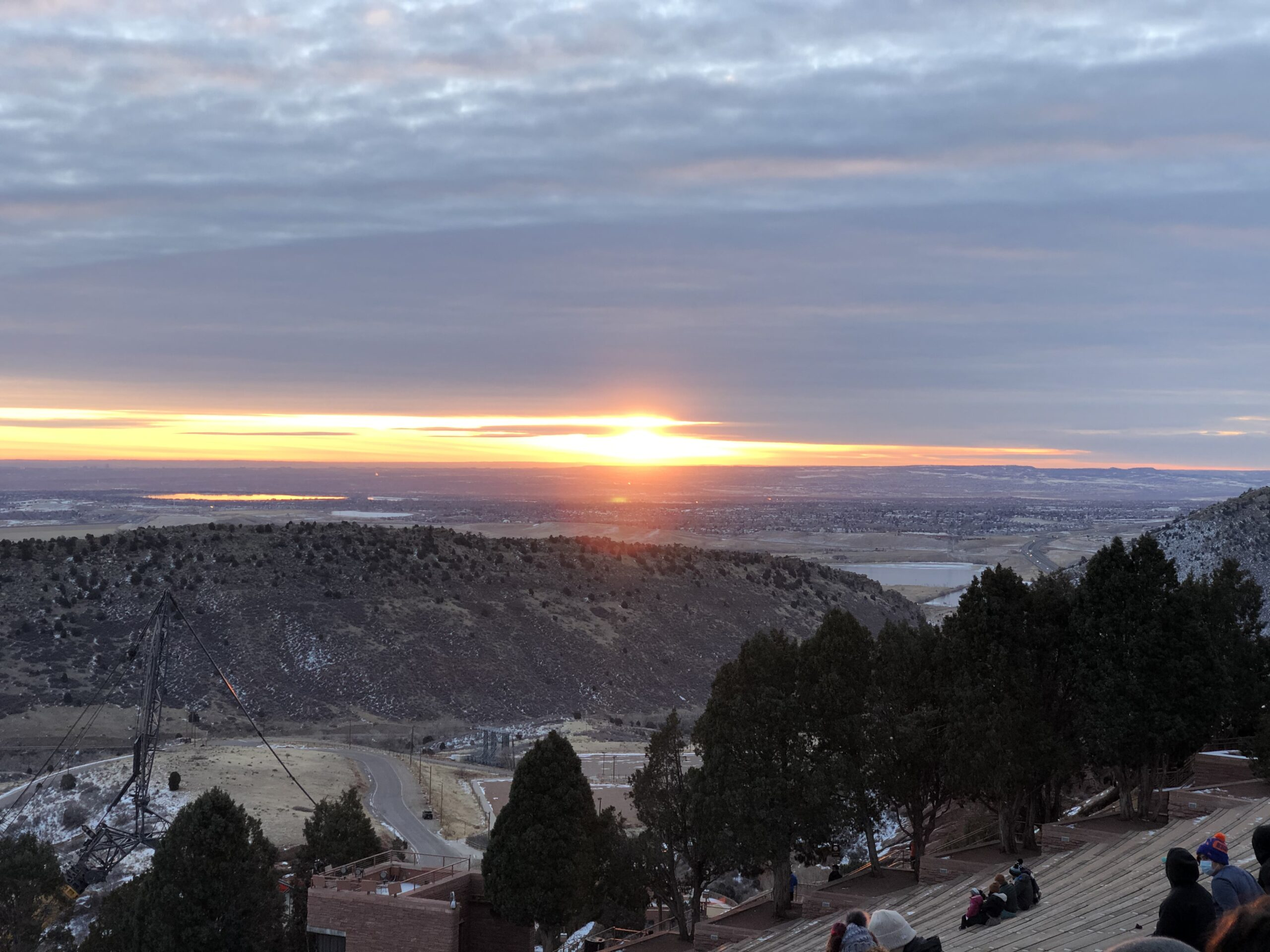 1st sunrise of 2021 at Red Rocks Amphitheater